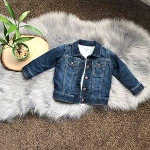 Denim lined jacket